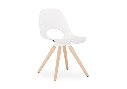 Białe krzesło konferencyjne