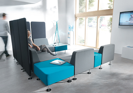 Modułowe systemy siedzisk biurowych