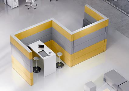 Ścianki akustyczne do biura