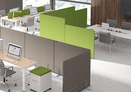 Ścianki akustyczne do przestrzeni biurowych