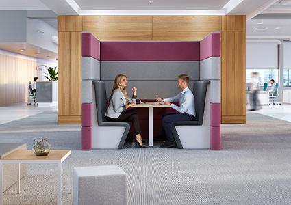 Siedziska akustyczne do biura