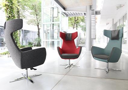 Fotele wypoczynkowe w poczekalni