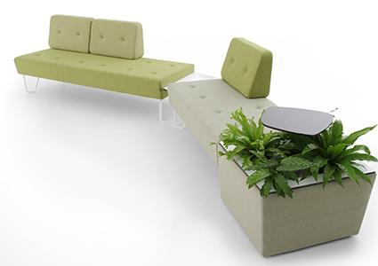Meble wypoczynkowe dla przestrzeni biurowej