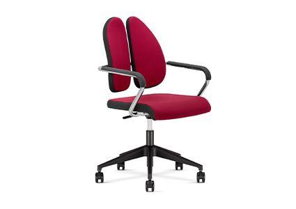 Krzesło konferencyjne na kółkach z dzielonym oparciem