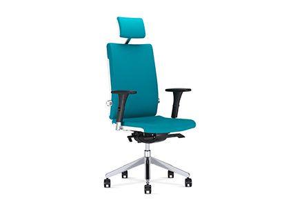 Obrotowe krzesło pracownicze z zagłówkiemm
