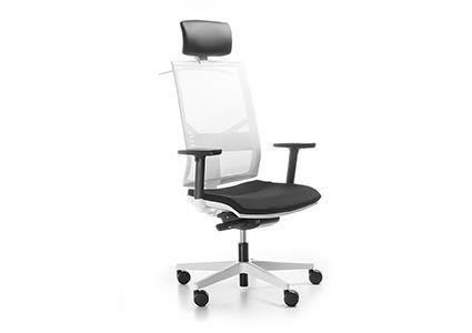 Krzesło pracownicze z zagłówkiem