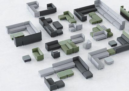 Siedziska modułowe dla przestrzeni biurowych