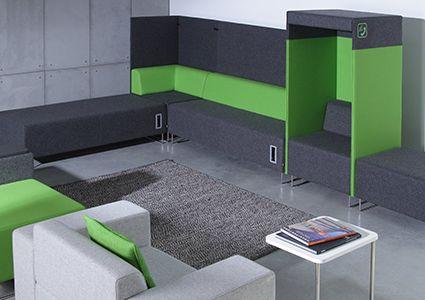 Modułowe systemy siedzisk do biura