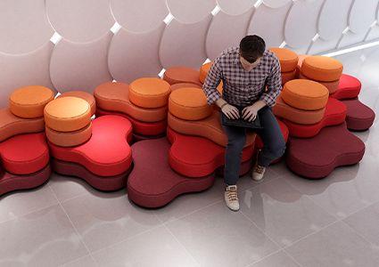 Siedziska modułowe w biurze