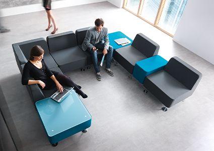 Siedziska modułowe dla biur