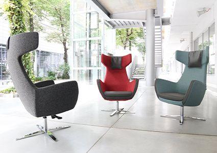 Fotele wypoczynkowe w biurze