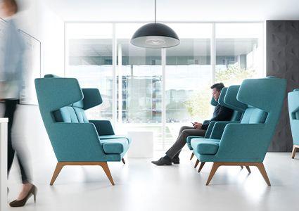 Komfortowe meble wypoczynkowe do biura