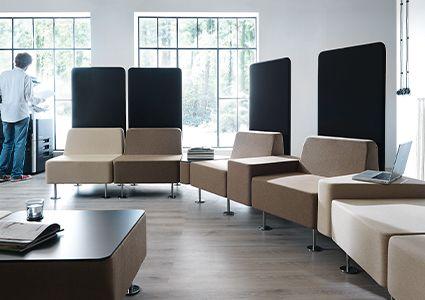 Siedziska modułowe dla przestrzeni biurowej