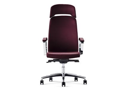 Krzesło gabinetowe bordowe