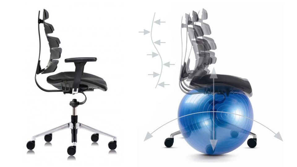 Krzesła biurowe aktywujące ruch