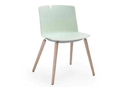 Krzesło konferencyjne z drewnianymi nogami