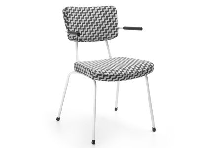 Krzesło konferencyjne czaro-białe