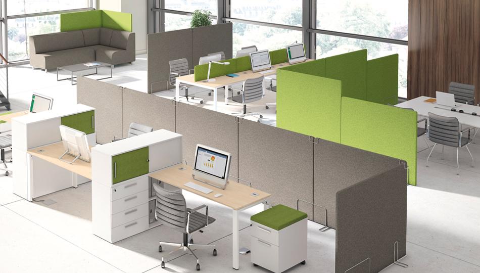 ścianki akustyczne w biurze