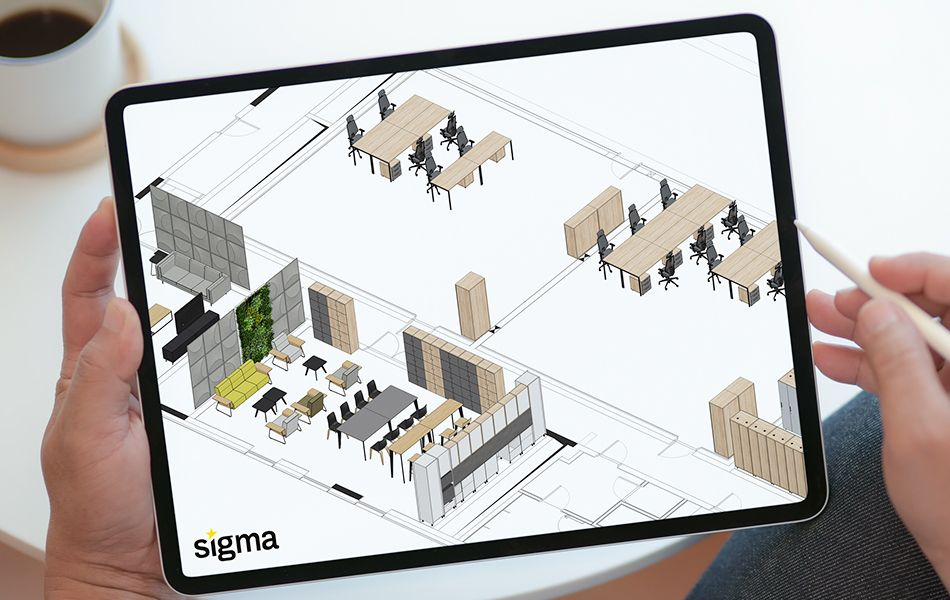 projektowanie biur - space plan